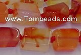 CNG6932 15.5 inches 5*8mm - 8*12mm nuggets red agate beads
