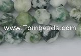 CAA1021 15.5 inches 8mm faceted nuggets tree agate beads