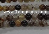 CAA1035 15.5 inches 4mm round dragon veins agate beads wholesale