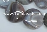 CAA106 15.5 inches 25mm coin botswana agate gemstone beads