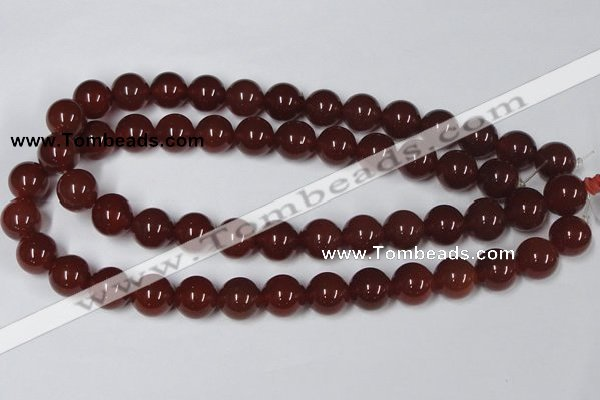 CAA114 15.5 inches 14mm round red agate gemstone beads wholesale