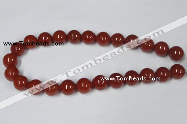 CAA116 15.5 inches 18mm round red agate gemstone beads wholesale