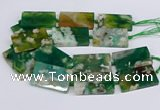 CAA1203 15.5 inches 30*50mm rectangle sakura agate beads