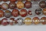 CAA1221 15.5 inches 6mm round gold mountain agate beads