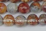CAA1223 15.5 inches 10mm round gold mountain agate beads
