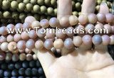 CAA1313 15.5 inches 10mm round matte plated druzy agate beads