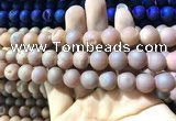 CAA1333 15.5 inches 12mm round matte plated druzy agate beads