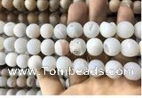 CAA1351 15.5 inches 14mm round matte plated druzy agate beads