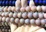 CAA1353 15.5 inches 14mm round matte plated druzy agate beads