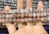 CAA1403 15.5 inches 8mm round matte druzy agate beads