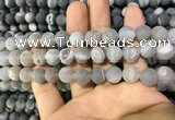 CAA1417 15.5 inches 10mm round matte druzy agate beads