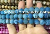 CAA1438 15.5 inches 12mm round matte druzy agate beads