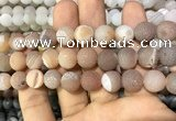 CAA1448 15.5 inches 14mm round matte druzy agate beads