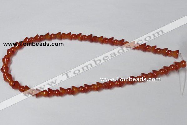 CAA145 15.5 inches 9*12mm bell shape red agate gemstone beads
