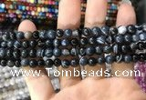 CAA1543 15.5 inches 6mm round banded agate beads wholesale