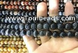 CAA1544 15.5 inches 8mm round banded agate beads wholesale