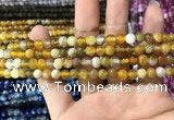 CAA1548 15.5 inches 4mm round banded agate beads wholesale