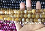 CAA1550 15.5 inches 8mm round banded agate beads wholesale