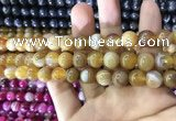 CAA1551 15.5 inches 10mm round banded agate beads wholesale