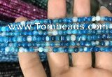 CAA1572 15.5 inches 4mm round banded agate beads wholesale