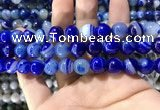 CAA1582 15.5 inches 12mm round banded agate beads wholesale