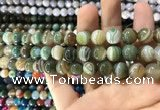 CAA1587 15.5 inches 10mm round banded agate beads wholesale