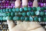 CAA1593 15.5 inches 10mm round banded agate beads wholesale