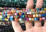 CAA1602 15.5 inches 4mm round banded agate beads wholesale