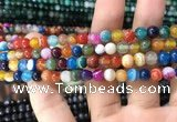 CAA1603 15.5 inches 6mm round banded agate beads wholesale