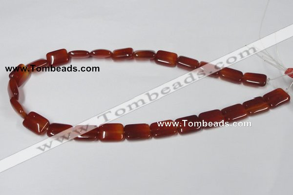 CAA161 15.5 inches 12*16mm rectangle red agate gemstone beads