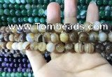 CAA1615 15.5 inches 6mm round banded agate beads wholesale