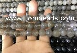 CAA1632 15.5 inches 10mm faceted round banded agate beads