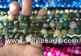CAA1671 15.5 inches 8mm faceted round banded agate beads