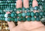 CAA1677 15.5 inches 10mm faceted round banded agate beads