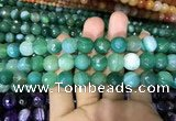 CAA1678 15.5 inches 12mm faceted round banded agate beads
