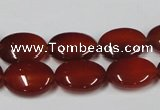 CAA170 15.5 inches 12*16mm oval red agate gemstone beads