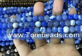 CAA1717 15 inches 8mm faceted round fire crackle agate beads