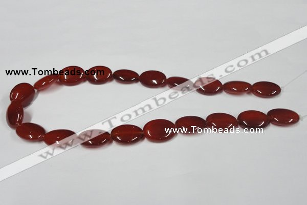 CAA172 15.5 inches 15*20mm oval red agate gemstone beads