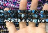 CAA1764 15 inches 8mm faceted round fire crackle agate beads