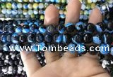 CAA1779 15 inches 10mm faceted round fire crackle agate beads