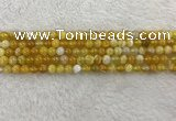 CAA1850 15.5 inches 4mm round banded agate gemstone beads