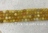 CAA1852 15.5 inches 8mm round banded agate gemstone beads