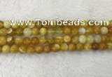 CAA1853 15.5 inches 10mm round banded agate gemstone beads