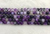 CAA1872 15.5 inches 8mm round banded agate gemstone beads