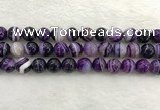 CAA1874 15.5 inches 12mm round banded agate gemstone beads