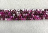 CAA1880 15.5 inches 4mm round banded agate gemstone beads