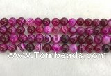 CAA1883 15.5 inches 10mm round banded agate gemstone beads