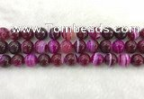 CAA1884 15.5 inches 12mm round banded agate gemstone beads