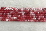 CAA1890 15.5 inches 4mm round banded agate gemstone beads
