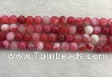CAA1893 15.5 inches 10mm round banded agate gemstone beads